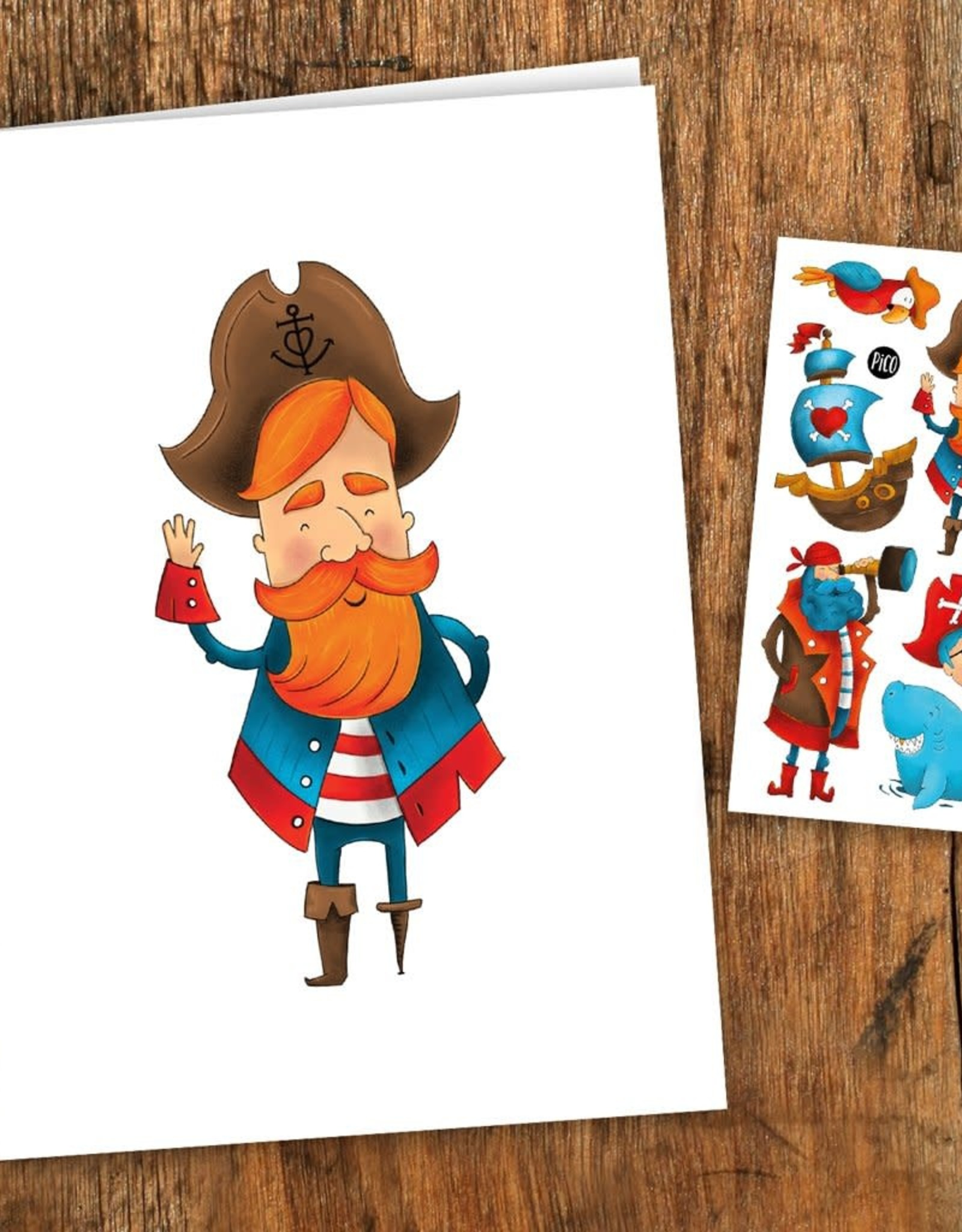 Pico Tatouage Carte de Souhait Pirates Pico Tatoo