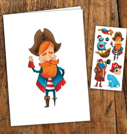 Pico Tatouage Carte de Souhait Pirates Pico Tatoo
