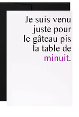 Masimto Carte Masimto La table de minuit