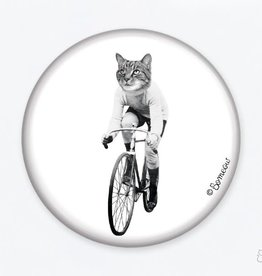 So Meow Aimant Cat On Bike So Meow