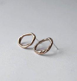 Marmod8 Boucles d'oreilles Ghost Small Bronze + Argent Marmod8