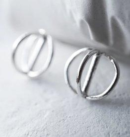 Marmod8 Boucles d'oreilles Sphère Argent Marmod8