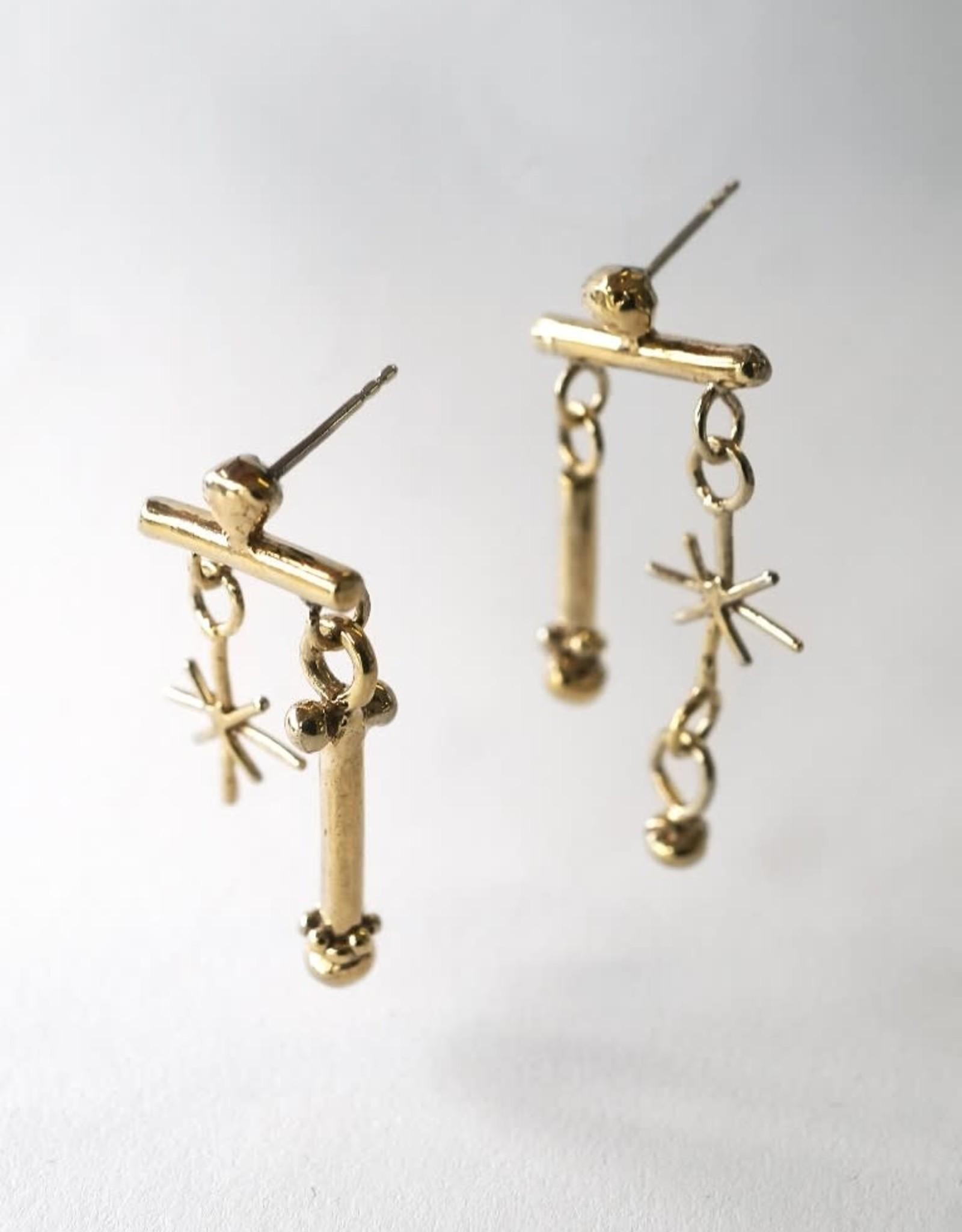Marmod8 Boucles d'oreilles Rattle Gold Plating Marmod8
