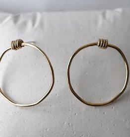 Marmod8 Boucles d'oreilles Wrap Gold Plating Marmod8