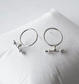 Marmod8 Boucles d'oreilles T Argent Marmod8