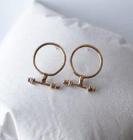 Marmod8 Boucles d'oreilles T Gold Plating Marmod8