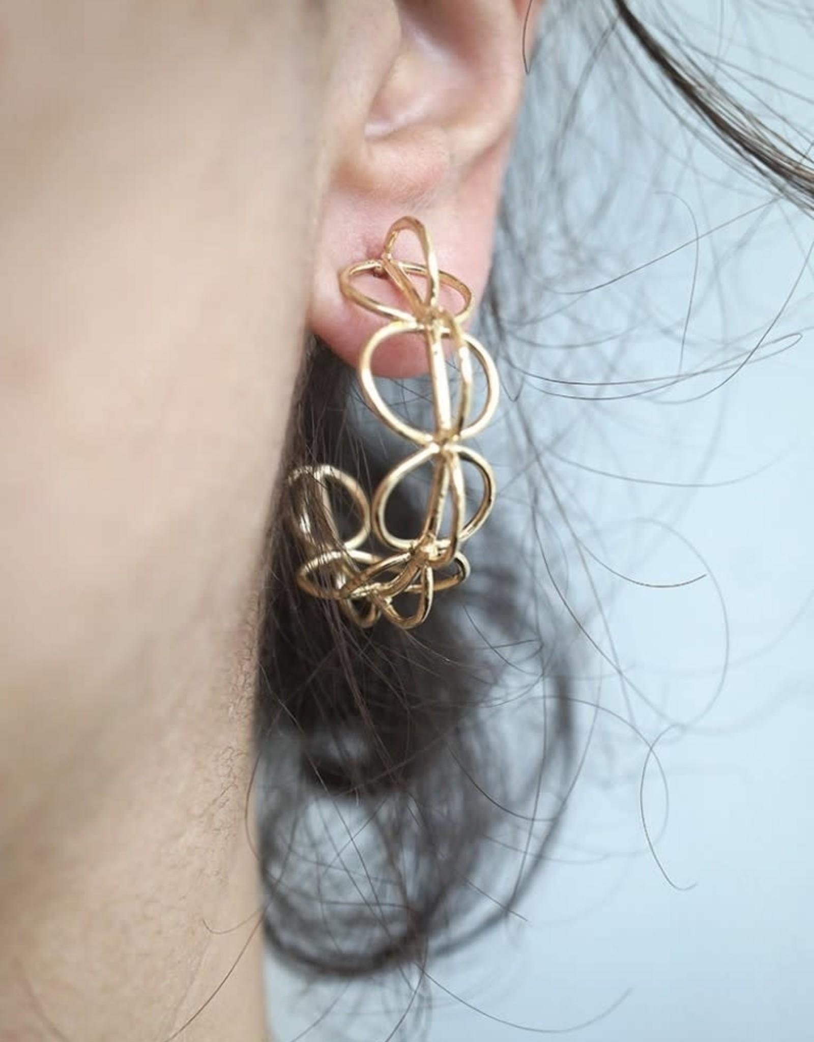 Marmod8 Boucles d'oreilles Sphere Hoops Gold Plating Marmod8