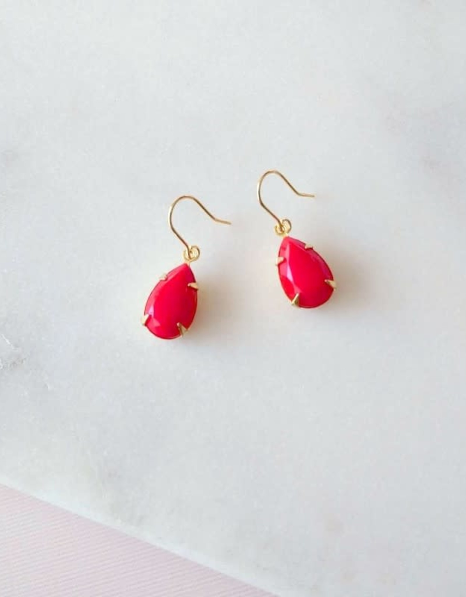 Sandrine Devost Boucles d'oreilles Simple Drops Perfect Red SD1559 Sandrine Devost