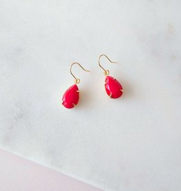 Sandrine Devost Boucles d'oreilles Simple Drops Perfect Red SD1559 Sandrine Devost