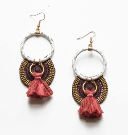 This Ilk Boucles d'oreilles Musk Burgundy This Ilk