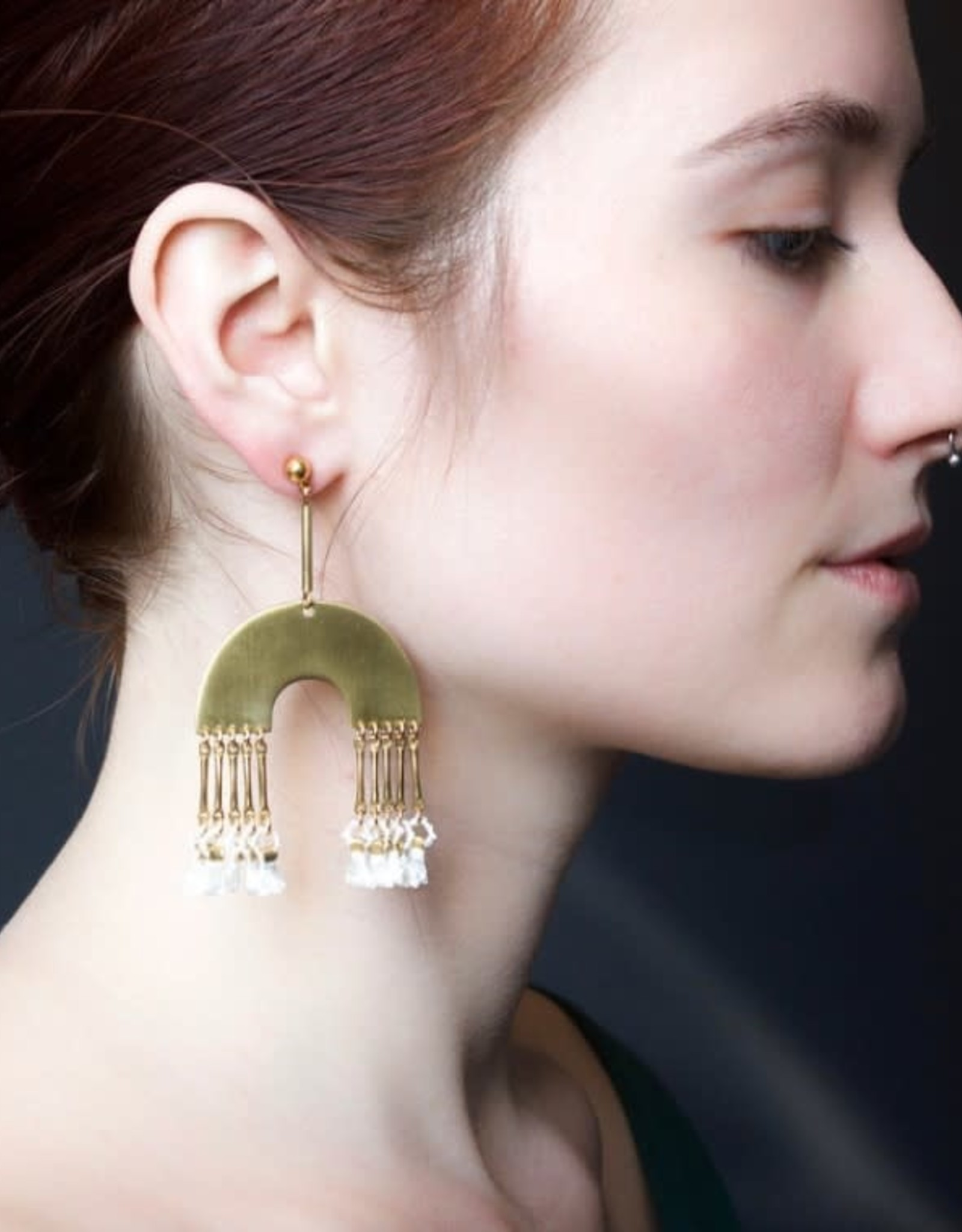 This Ilk Boucles d'oreilles Dunning White This Ilk
