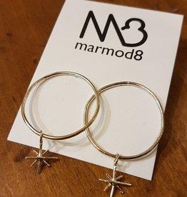 Marmod8 Boucles d'oreilles Vega Argent Marmod8