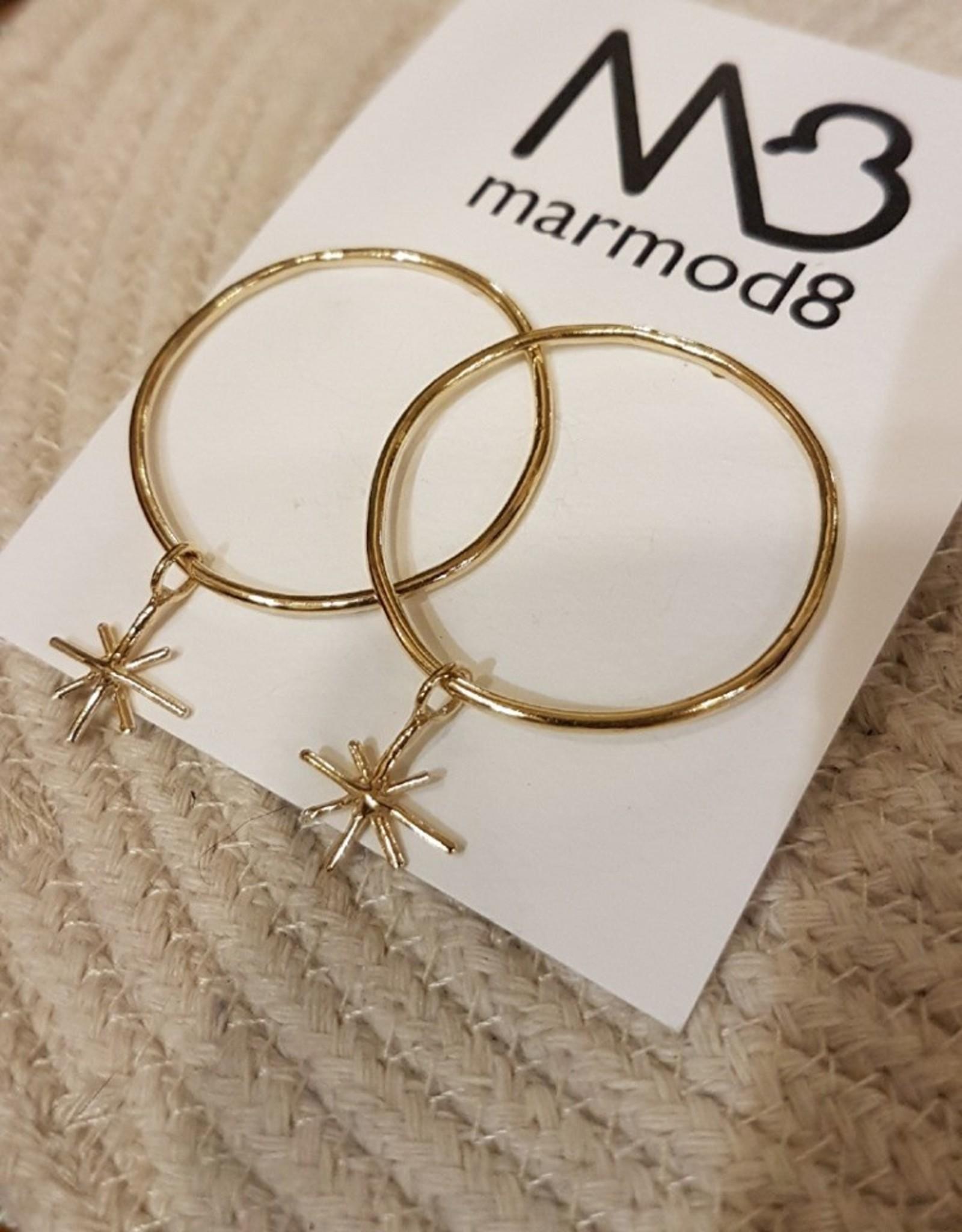 Marmod8 Boucles d'oreilles Vega Gold Plating Marmod8