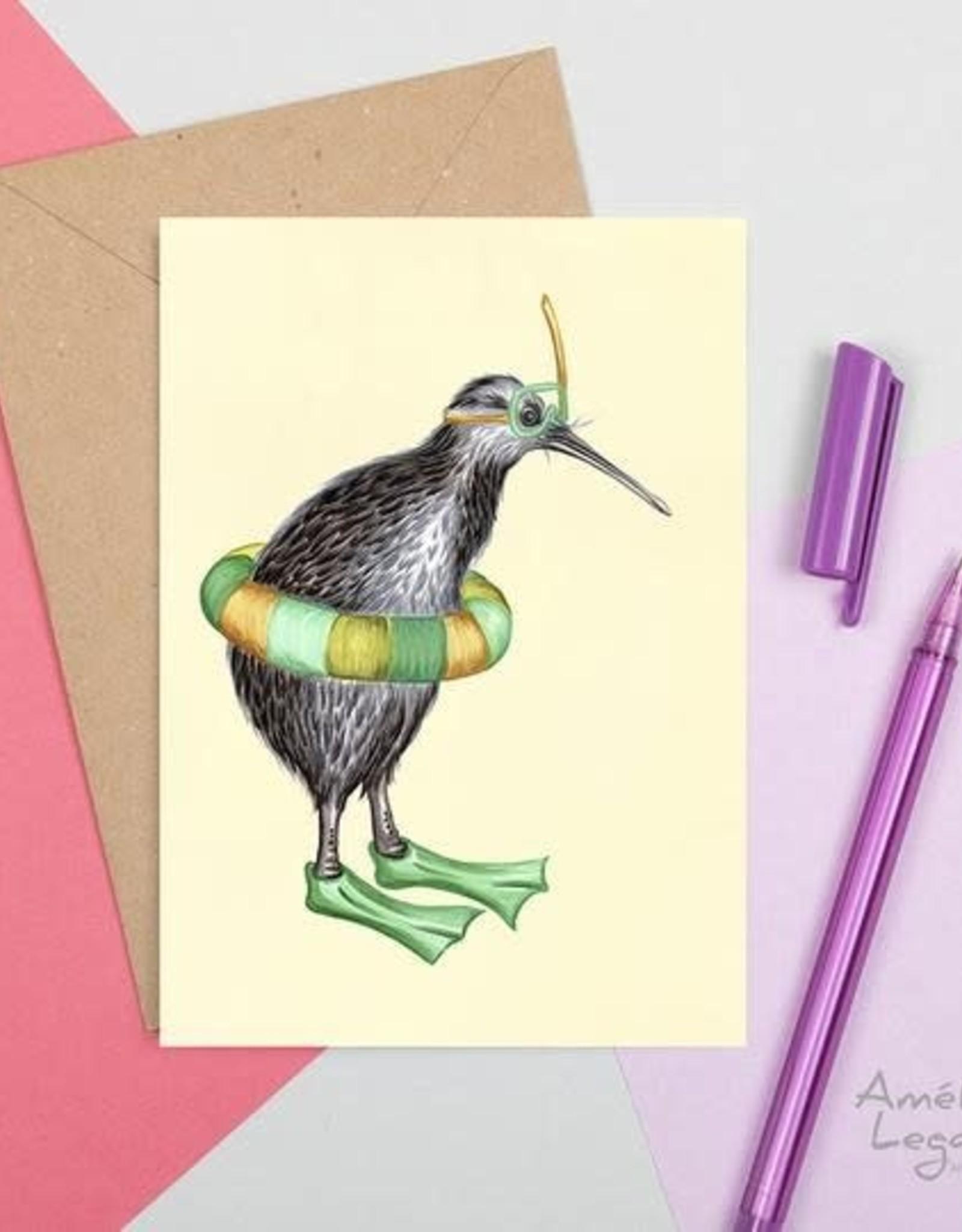 Amelie Legault Carte Amelie Legault Kiwi plongeur
