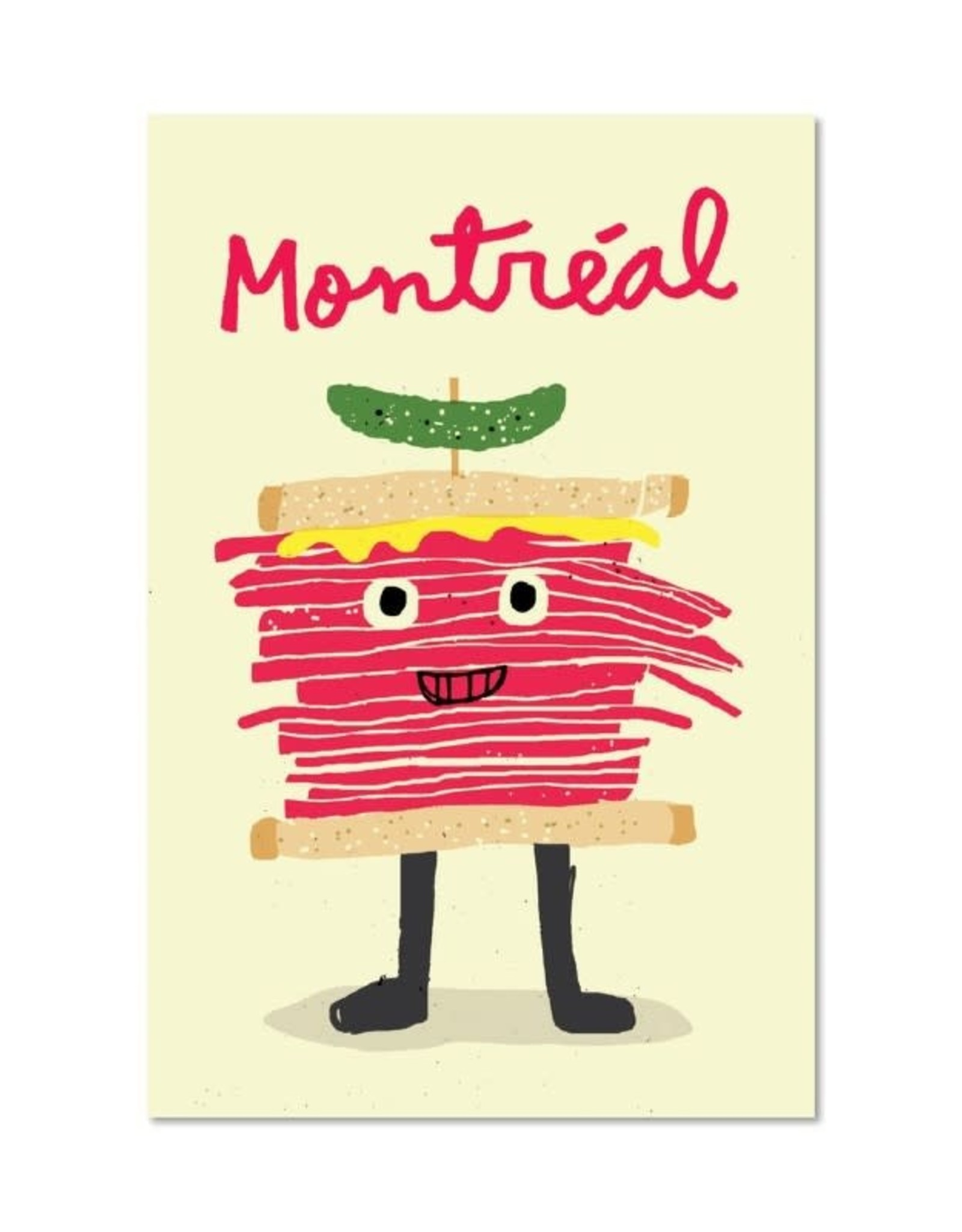 Paperole Carte postale Smoked Meat Paperole