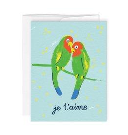 Paperole Carte de Souhait Lovebirds Paperole
