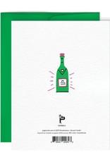 Paperole Carte de Souhait Champagne Paperole