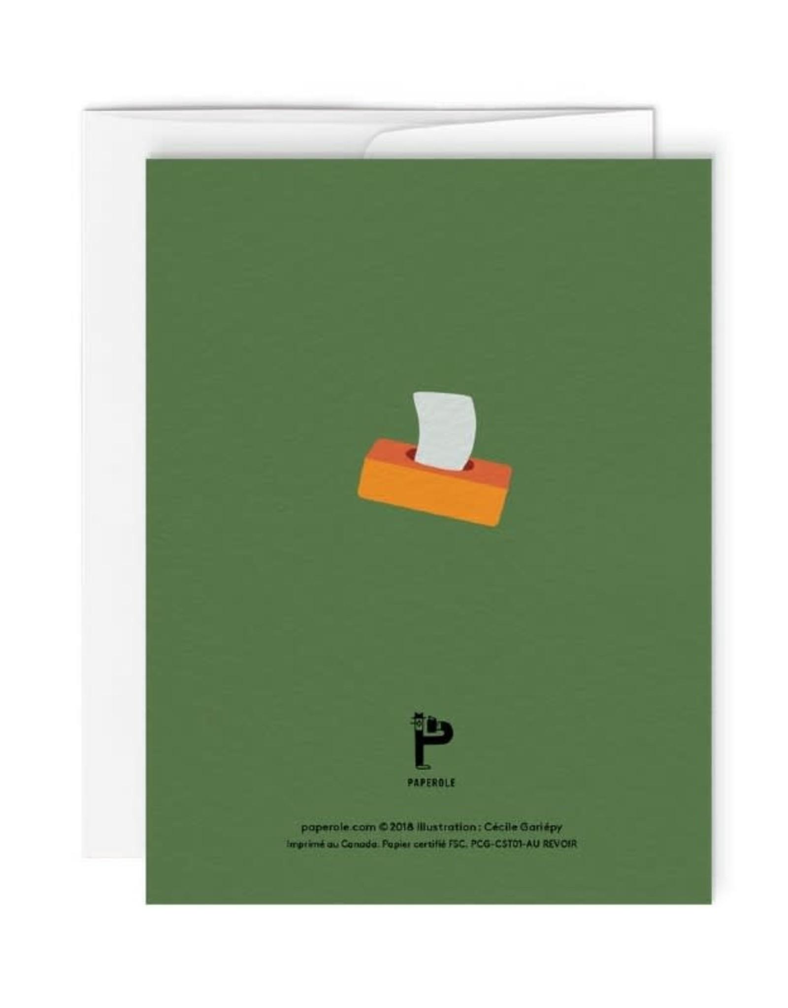 Paperole Carte de Souhait Au revoir Paperole