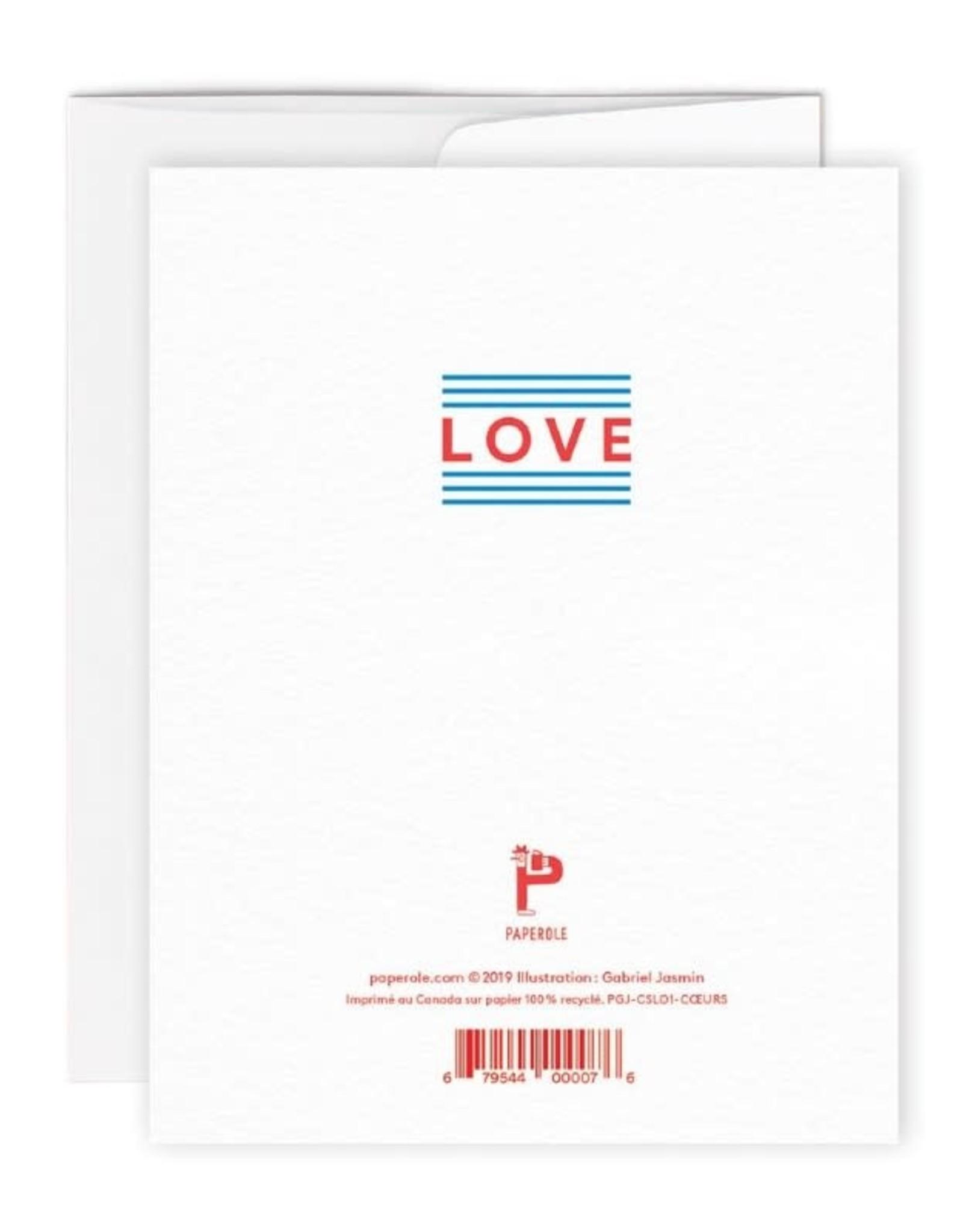 Paperole Carte de Souhait Coeurs Paperole