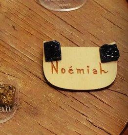 Noemiah Boucles d'oreilles  Noémiah noir