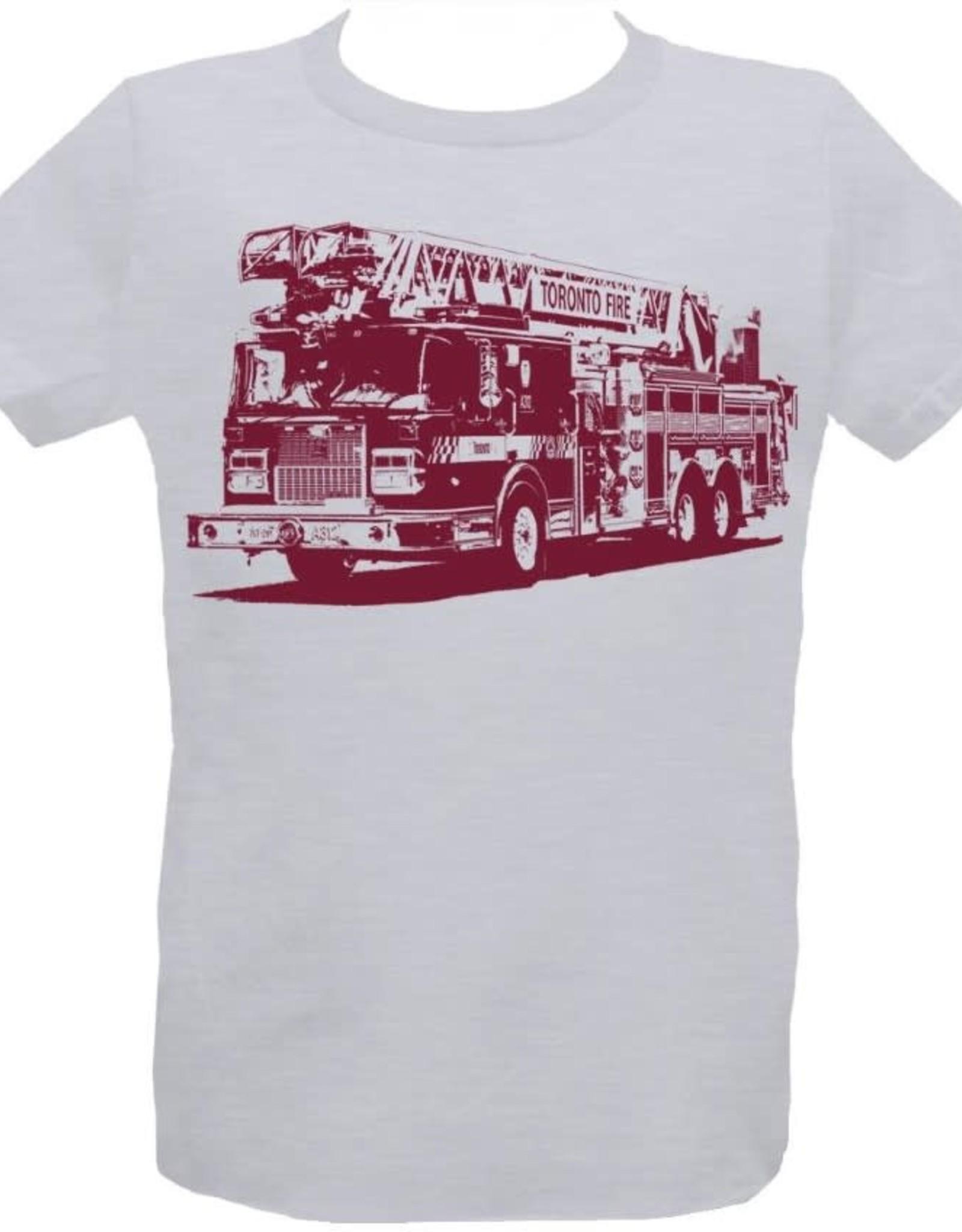 Tresnormale T-Shirt Enfant Camion de Pompier Tresnormale Gris Chiné