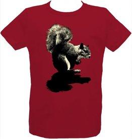 Tresnormale T-Shirt Enfant Écureuil Tresnormale Rouge