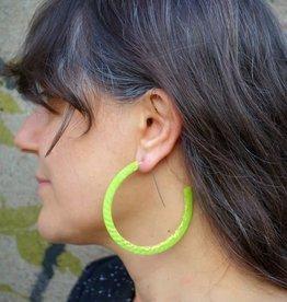 Bijoux Pepine Boucles d'oreilles Ouroboros Lime  Bijoux Pépine