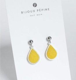 Bijoux Pepine Boucles d'oreilles Candide Bijoux Pépine Jaune