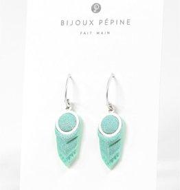 Bijoux Pepine Boucles d'oreilles Panache Menthe Bijoux Pépine