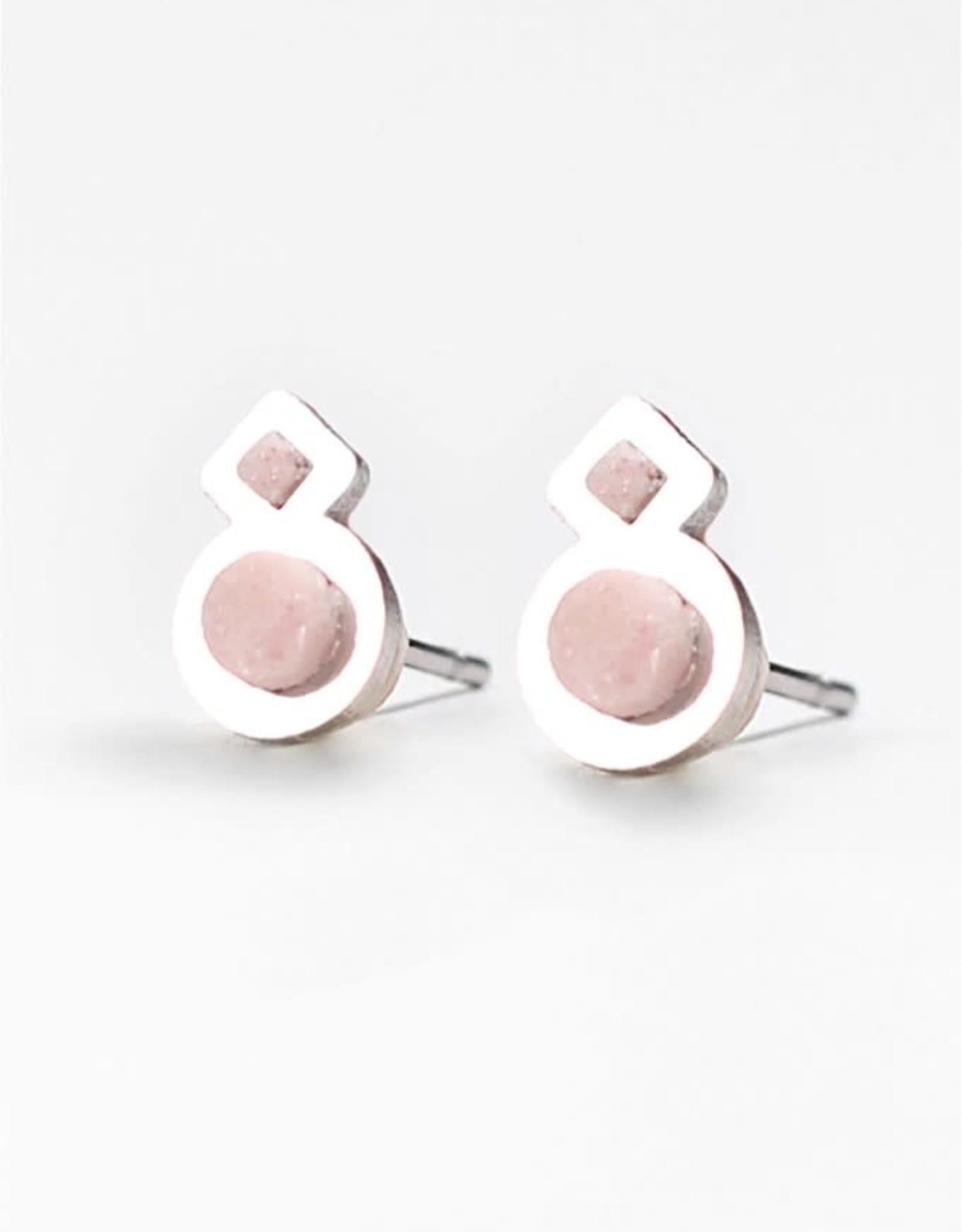 Bijoux Pepine Boucles d'oreilles Rose des vents Rose pastel Bijoux Pépine