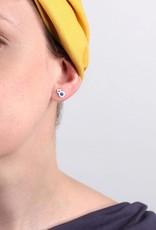 Bijoux Pepine Boucles d'oreilles Rose Des Vents Indigo Bijoux Pépine