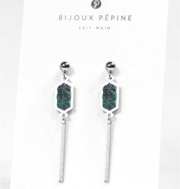 Bijoux Pepine Boucles d'oreilles Nova Vert forêt Bijoux Pépine