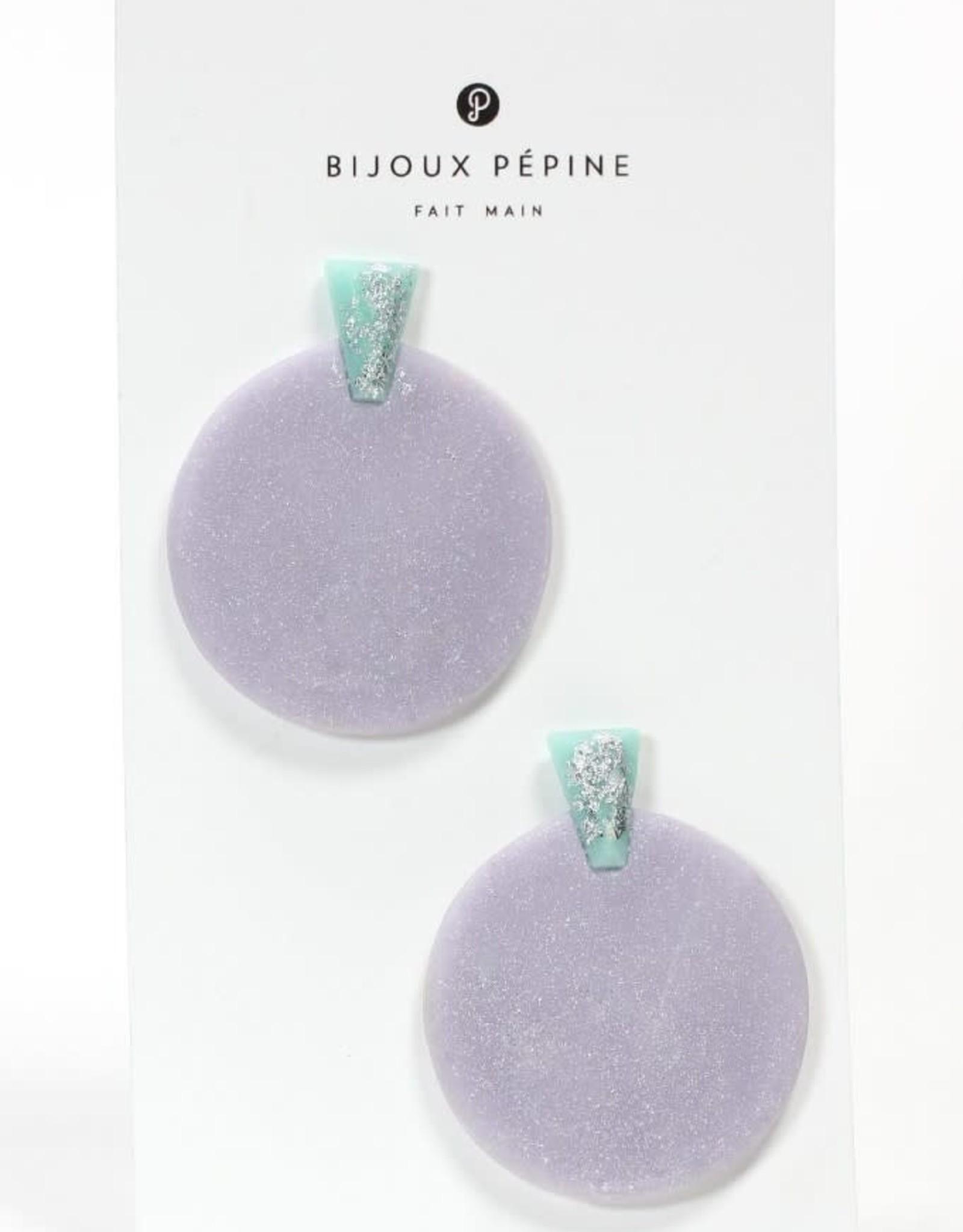 Bijoux Pepine Boucles d'oreilles Ulu Lilas Bijoux Pépine