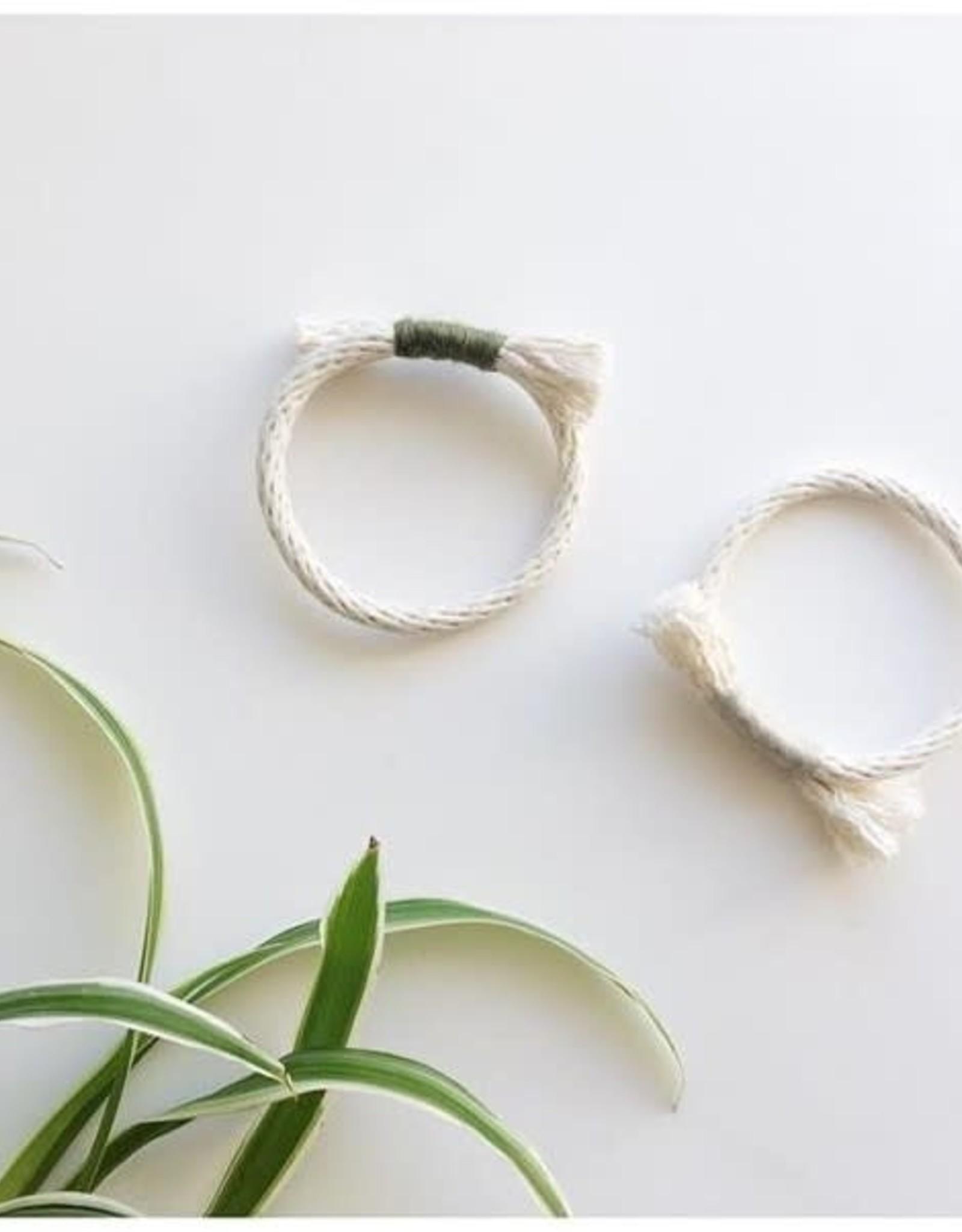 CartoucheMTL Bracelet Simple CartoucheMTL Crème