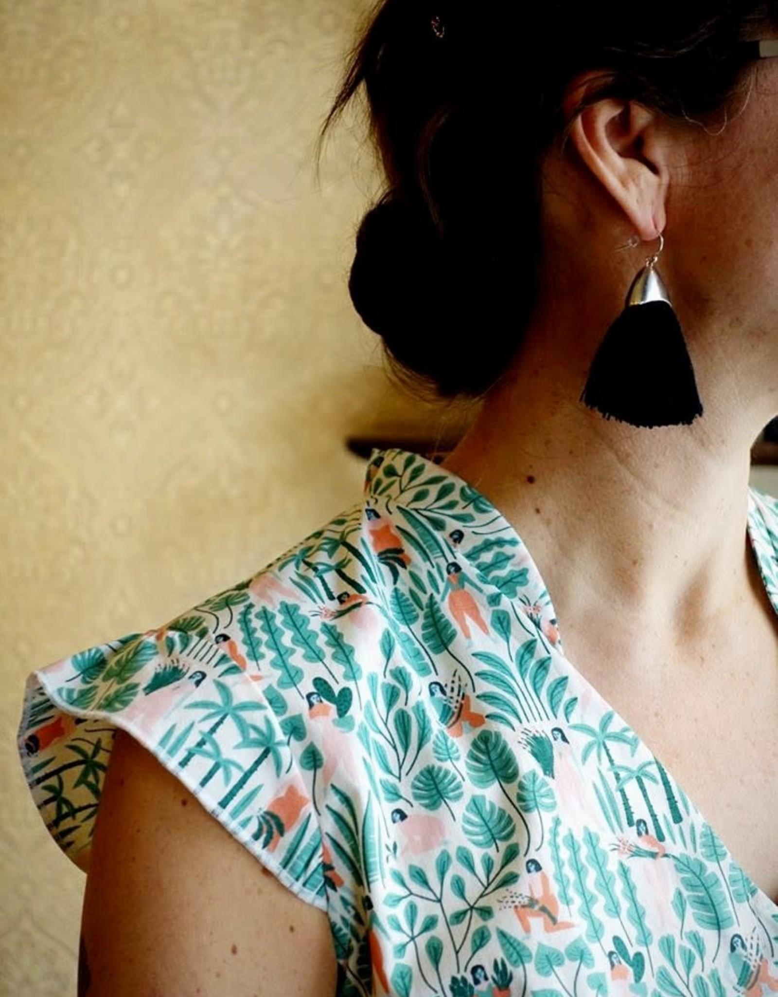 CartoucheMTL Boucles d'oreilles Simone CartoucheMTL Noir