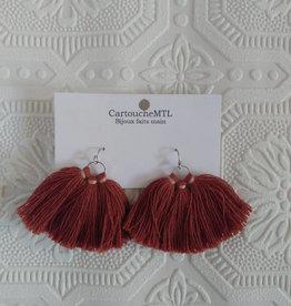 CartoucheMTL Boucles d'oreilles Marine CartoucheMTL Roses/ Rouilles