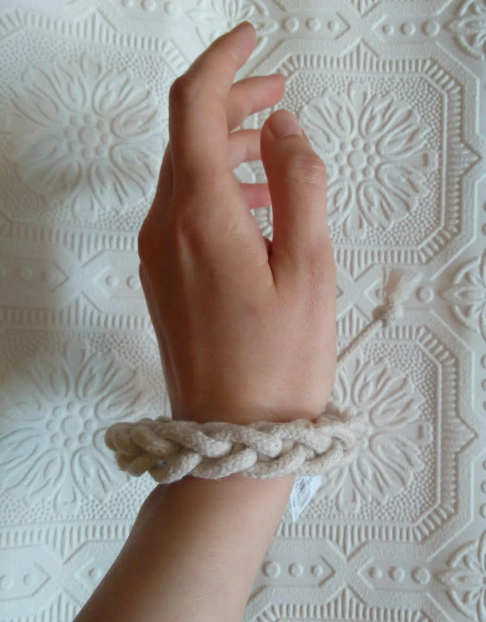CartoucheMTL Bracelet Tresse CartoucheMTL Crème