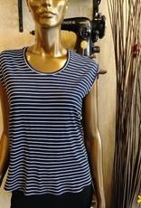 Les Coureurs de Jupons T-shirt Mika Bambou PE19 Les Coureurs de Jupons Marine Rayé
