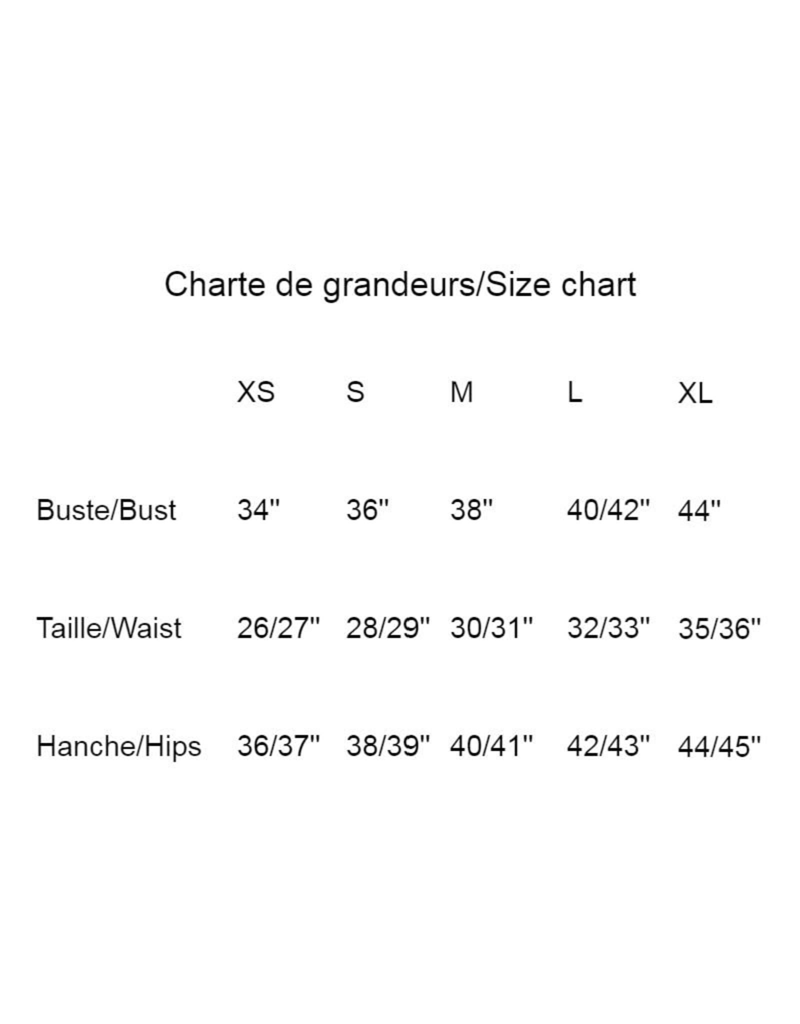 Les Coureurs de Jupons Chandail El Classico 3/4 Bambou AH1819 Les Coureurs de Jupons Noir