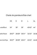Les Coureurs de Jupons Chandail El Classico 3/4 Coton AH1819 Les Coureurs de Jupons Noir