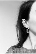 La Manufacture Boucles d'oreilles Nino La Manufacture Argent/ Laiton