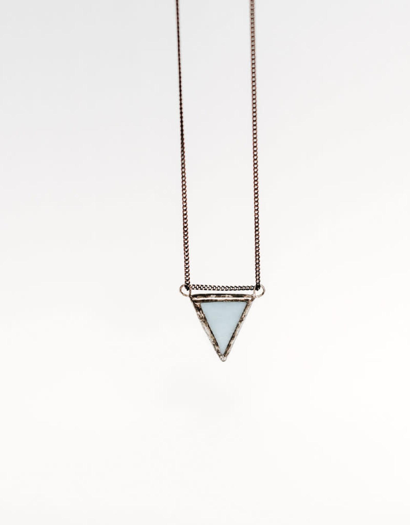 La Manufacture Collier Triangle La Manufacture Bleu Pâle