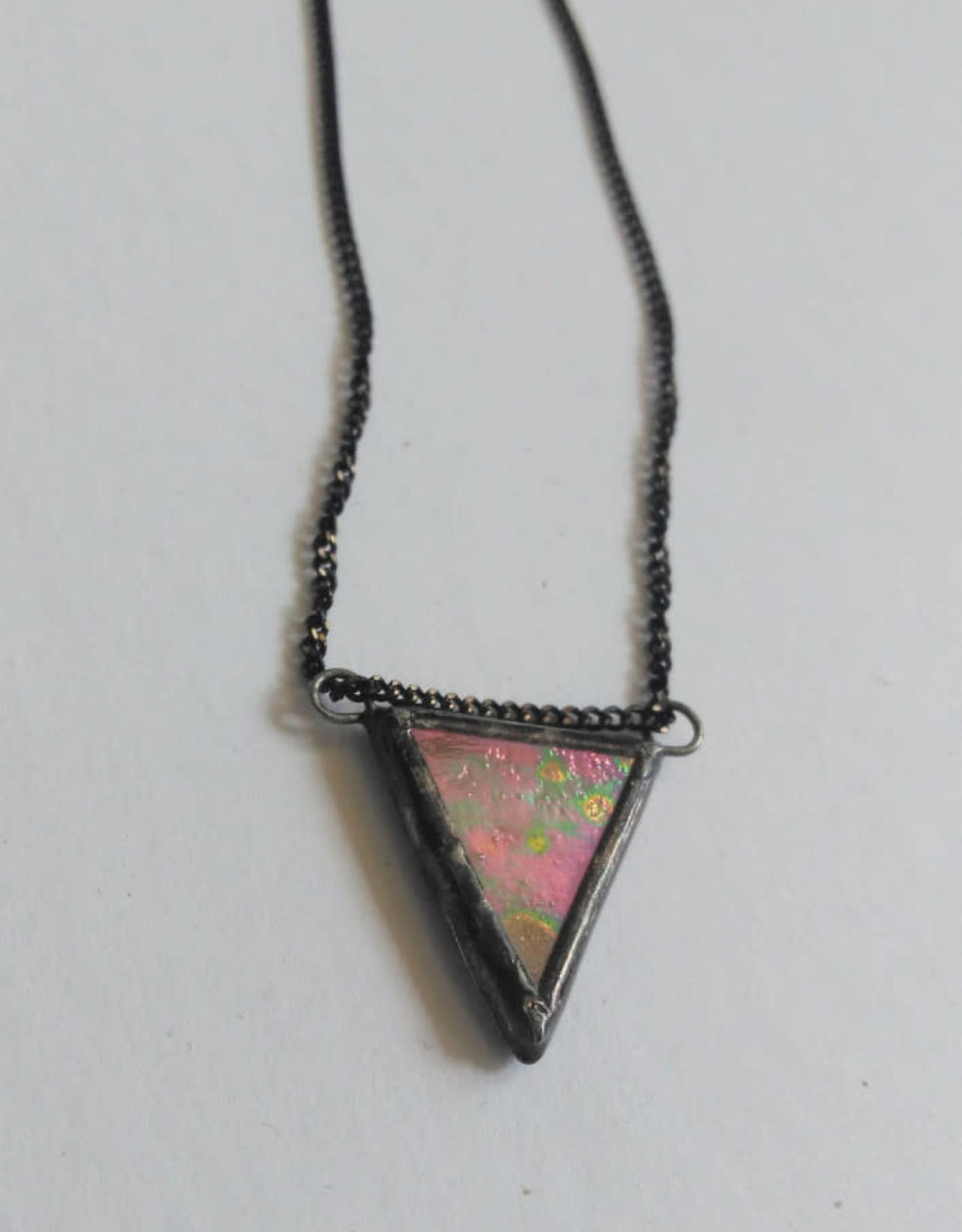 La Manufacture Collier Triangle La Manufacture Iridescent Rose