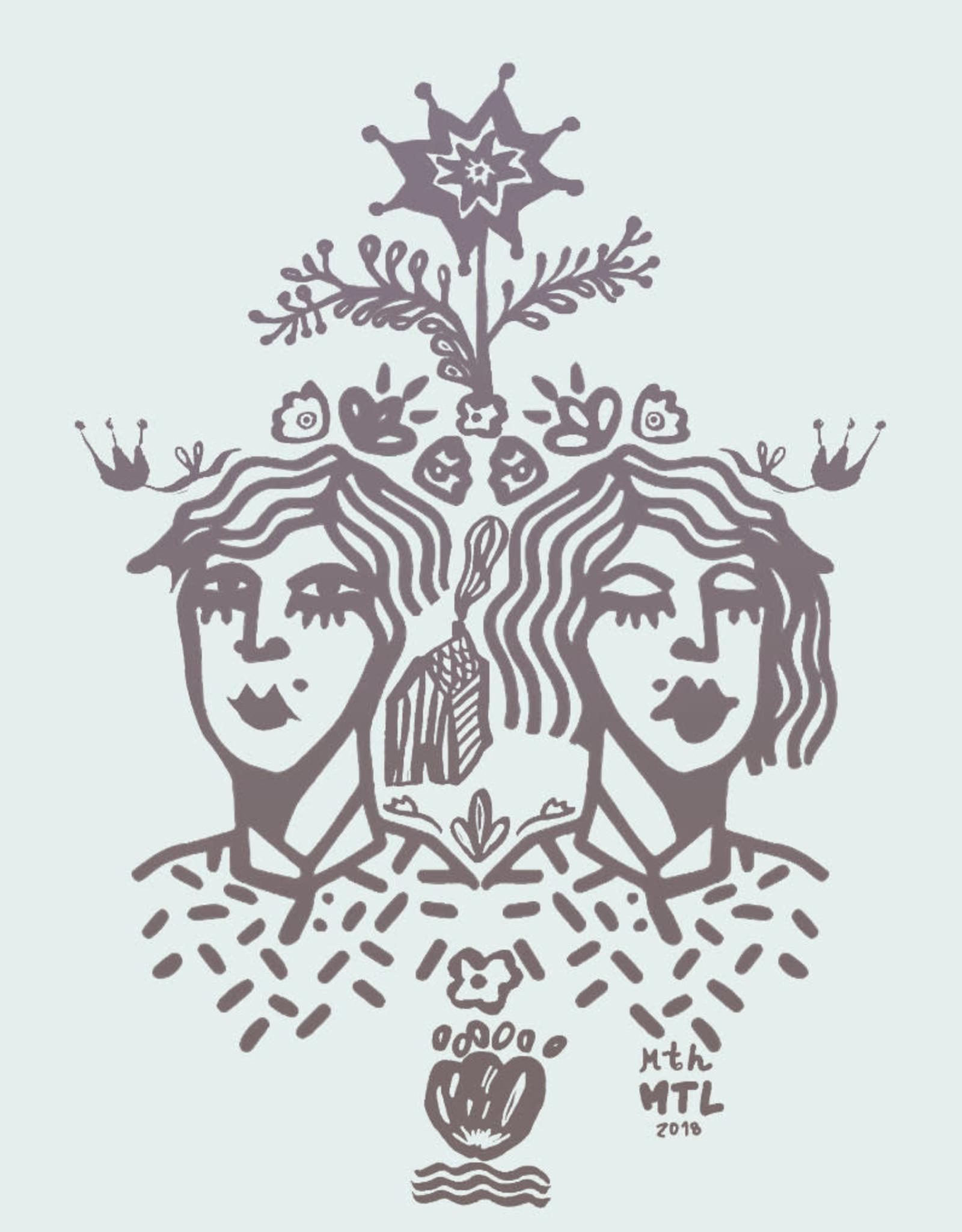 Sonambula T-Shirt THEIR Sonambula Femme Rouille