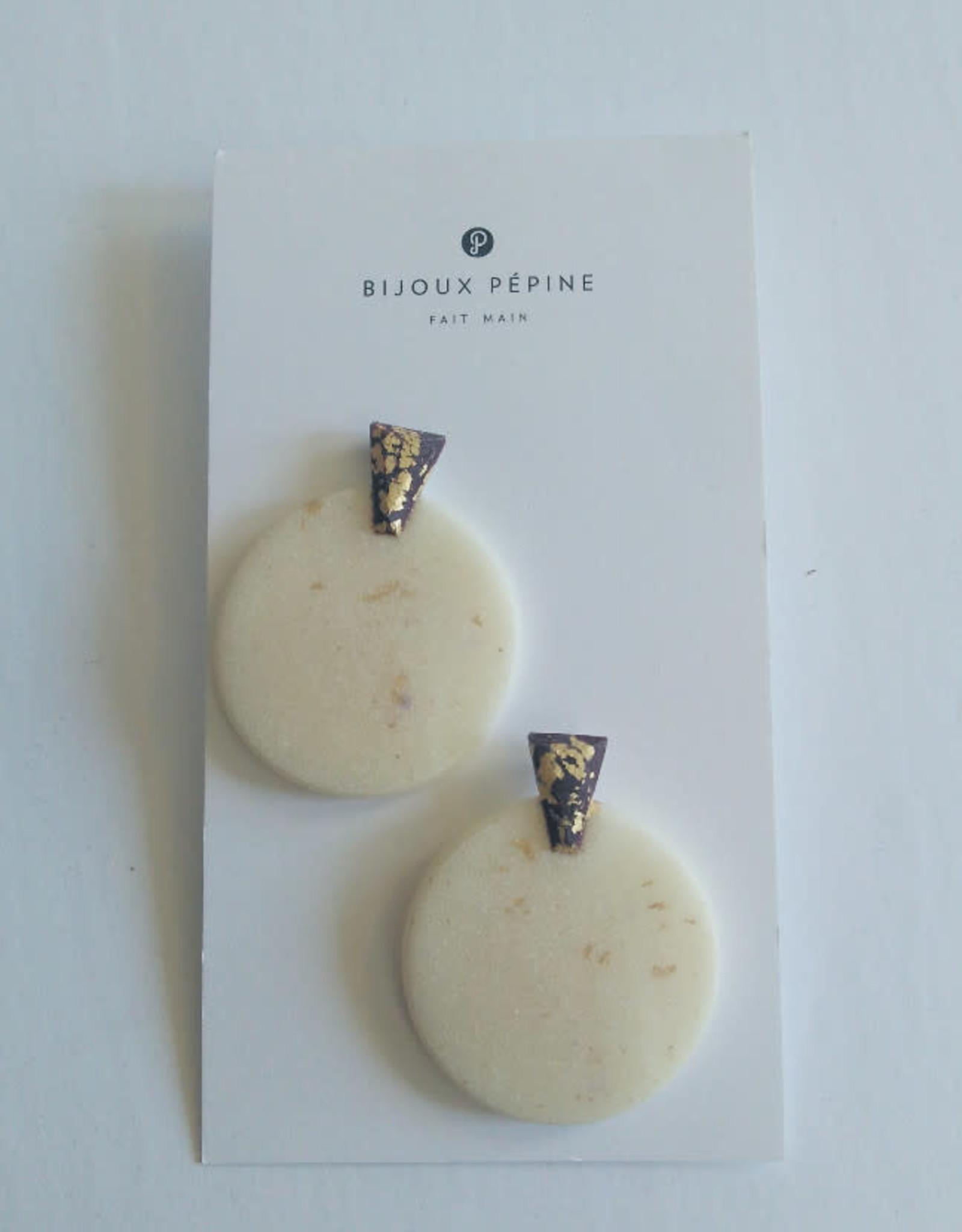 Bijoux Pepine Boucles d'oreilles Ulu Blanc Bijoux Pépine