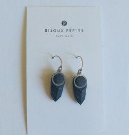 Bijoux Pepine Boucles d'oreilles Panache  Bijoux Pépine  Bleu Marine