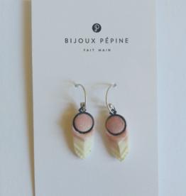 Bijoux Pepine Boucles d'oreilles Panache Bijoux Pépine Rose Pastel Marbré