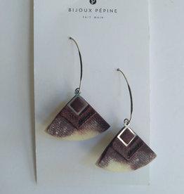 Bijoux Pepine Boucles d'oreilles Cléopâtre Bordeaux Marbré Bijoux Pépine