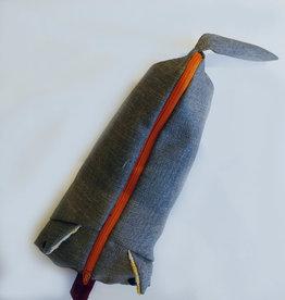 Raplapla Étui à crayons Raplapla Zip Orange