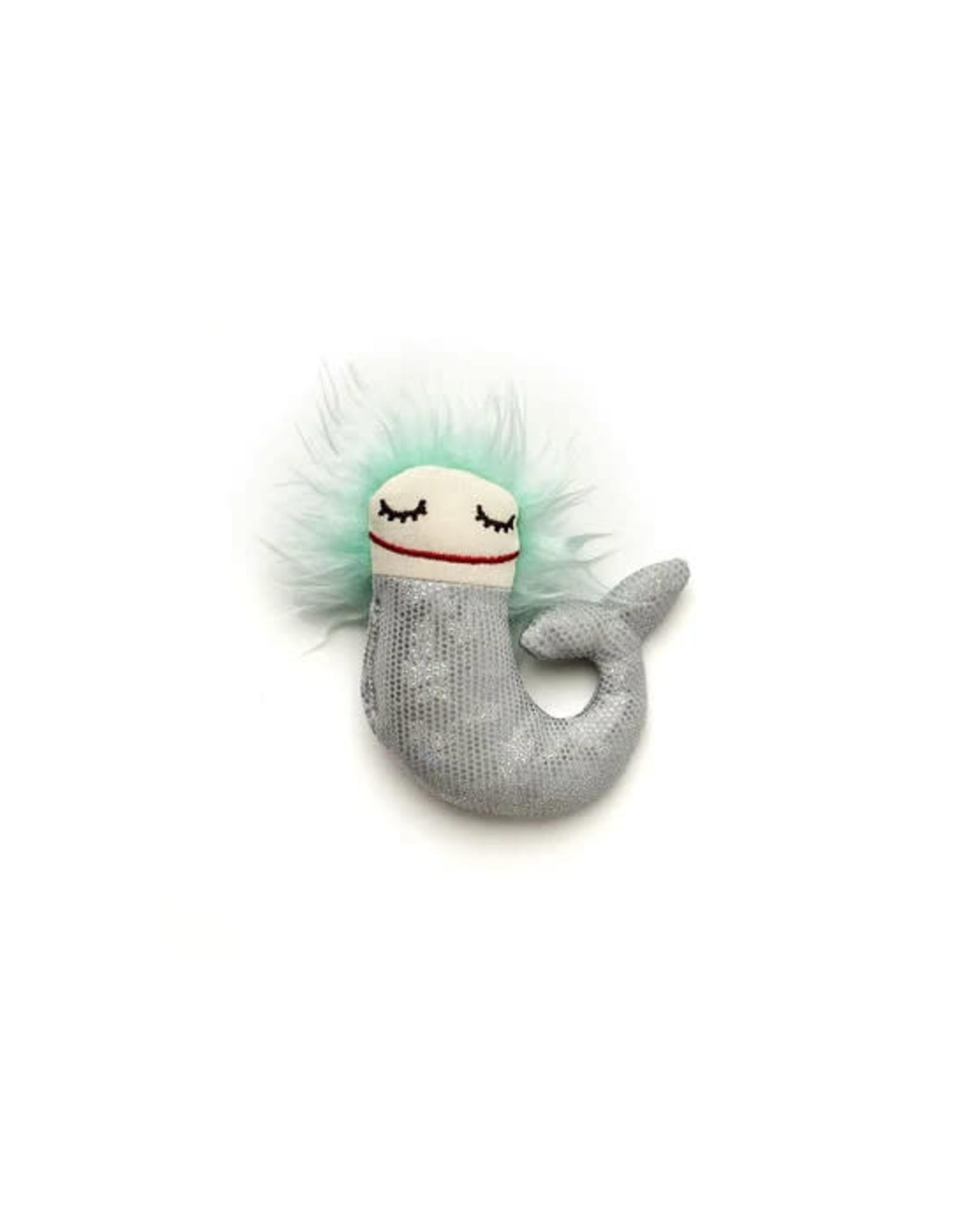 Raplapla Bébé Sirène Raplapla Argent/ Cheveux turquoise et les yeux fermés